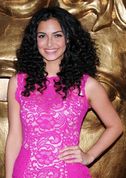 Anna Shaffer Long Black Curly Hairstyle for Summer