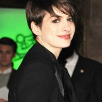 Cute Short Pixie Cut - Anne Hathaway Short Straight Hairstyles for Women