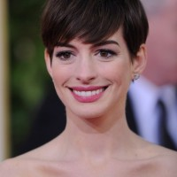 Anne Hathaway Short Haircut - Layered Pixie Cut for Straight Hair