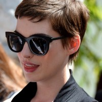 Anne Hathaway Trendy Short Pixie Haircut - Boyish Short Haircut for Women