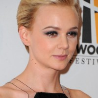Short Sleek Blonde Pixie Cut - Carey Mulligan Short Haircut
