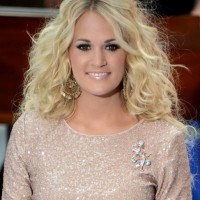 Sexy Long Curly Hairstyle for Thin Hair - Carrie Underwood Hairstyles