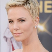 Charlize Theron Short Pixie Haircut - Popular Short Hairstyles for Women