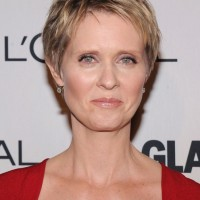 Cynthia Nixon Layered Short Pixie Cut - Short Hairstyles for Older Women Over 50