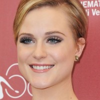 Evan Rachel Wood Short Hairstyle with Bangs: Pixie Cut