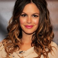 Half Up Half Down Curly Ombre Hairstyles 2013