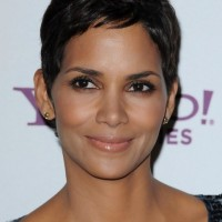 Halle Berry Short Black Hairstyle for Women - Simple Easy Short Haircut 2014