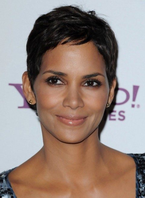 Astonishing Halle Berry Short Black Hairstyle For Women Simple Easy Short Hairstyle Inspiration Daily Dogsangcom