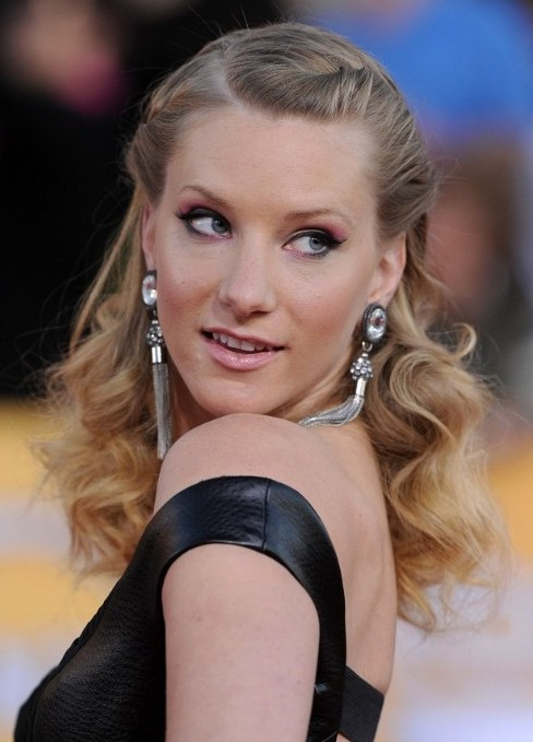 Heather Morris Half Up Half Down Curly Hairstyles