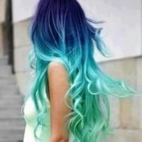 Indigo & Aqua in a Stunning Color Blend
