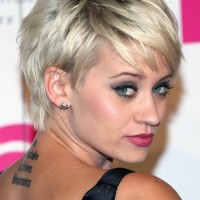 Best Short Hairstyle 2014: Layered Messy Short Pixie Haircut from Kimberly Wyatt