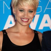 Short Blonde Pixie Haircut with Bangs for Summer 2014 - Kimberly Wyatt Hairstyles