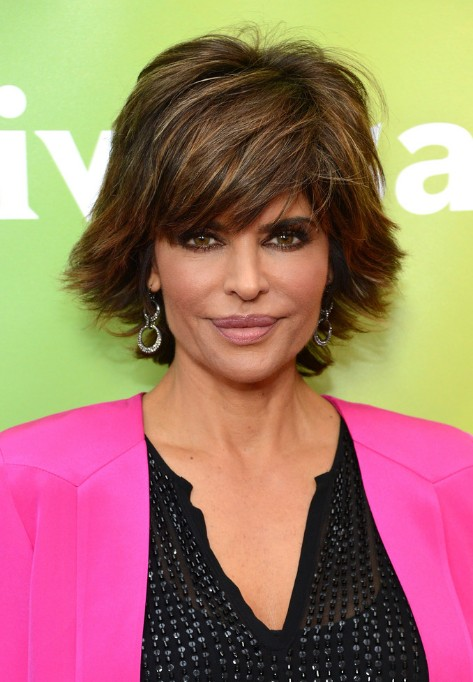 Lisa Rinna Layered Razor Cut for Summer - Latest Popular Short Hairstyles for Women