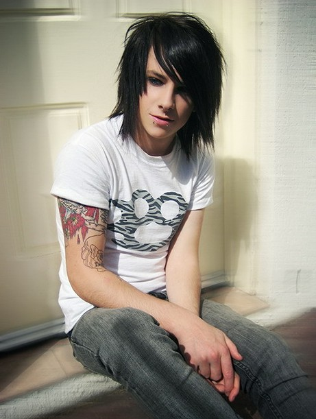 Long Black Hairstyle for Emo Boys
