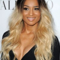 Long Curly Dark to Light Ombre Hair for Summer