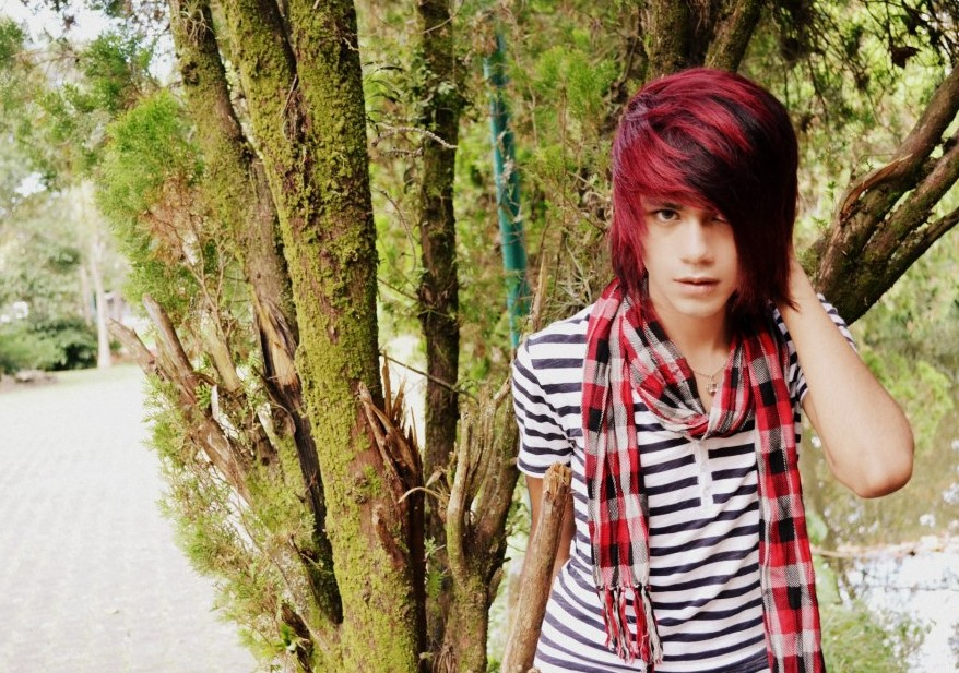 Long Red Emo Hairstyles for Boys