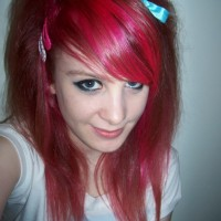 Long Straight Red Emo Hairstyles for Girls 2014
