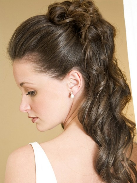 Loose Half Up Half Down Curly Prom Hairstyles