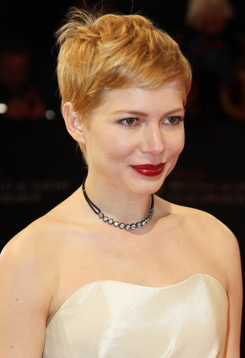 Michelle Williams Slightly Mussed Pixie Cut - Formal Pixie