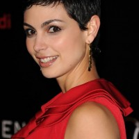 Short Black Curly Pixie Haircut for Women - Morena Baccarin Hairstyles 2014