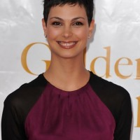 Tousled Short Black Pixie Haircut for Women - Morena Baccarin Haircut