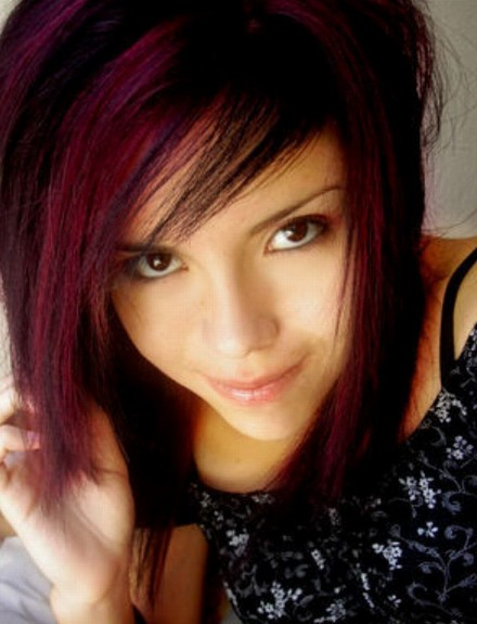 Red Emo Hairstyles for Emo Girls