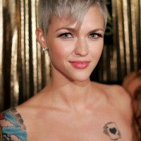 Short Gray Pixie Haircut with Long Bangs - Ruby Rose Hairstyles