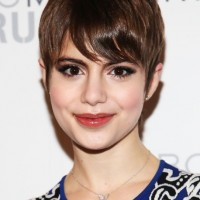 Sami Gayle Short Haircut - Sweet Pixie Cut with Side Swept Bangs
