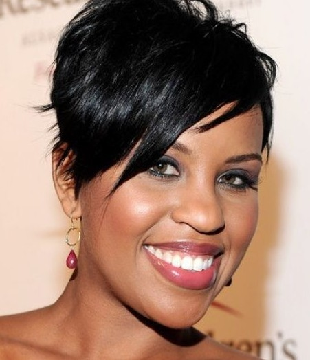 Short Black Hairstyle with Bangs for Black Women 2014 ...