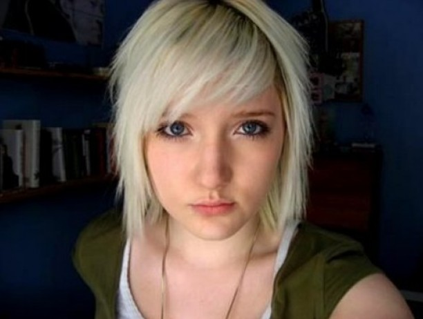 Short Blonde Emo Haircuts for Girls