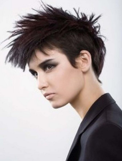 Short Choppy Punk Hairstyle