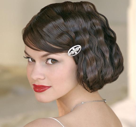 Short Wavy Wedding Hair Style - Latest Bridal Hairstyles