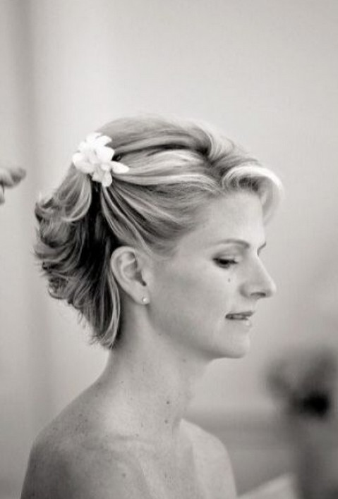 Short Wedding Haircuts - Romantic Wedding Updo for Short Hair