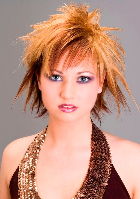 Trendy Short Choppy Layered Punk Hairstyles