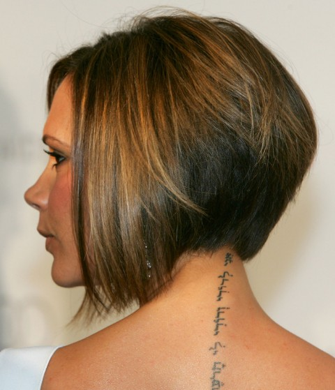 Victoria Beckham Inverted Bob Haircut for Thin Hair y Short Haircut for