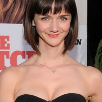 Cute Classic Sleek Short Bob Haircut with Blunt Bangs for Girls- Alexandra Ella Haircut