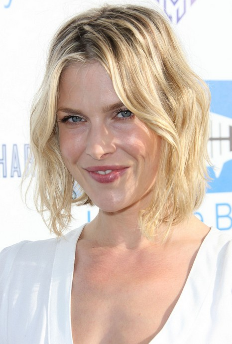 Fabulous Short Tousled Curly Bob Hairstyle 2014 Ali Larter Short Blonde Hairstyle Inspiration Daily Dogsangcom