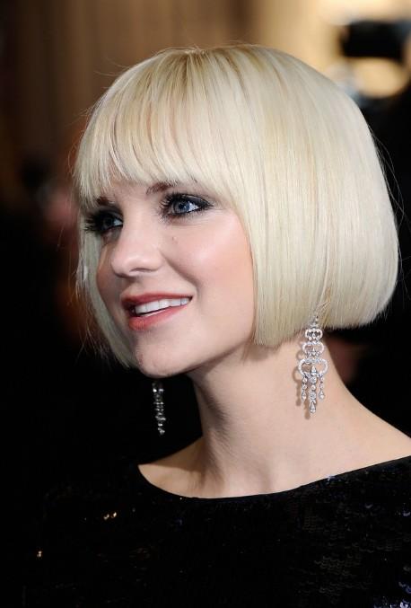 Faris Short Blonde Blunt Bob Haircut Short Straight Haircut For 2014
