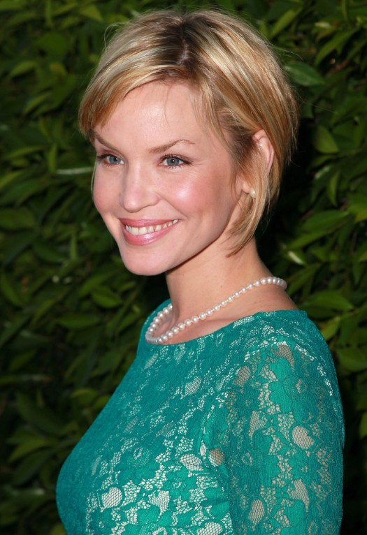 Ashley Scott Short Blonde Sassy Bob Haircut