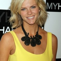 Choppy Layered Bob Hairstyle - Side Parted Medium Wavy Hairstyles from Brooklyn Decker