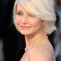 Short Blonde Bob Hairstyle with Bangs - Most Popular Short Hairstyles 2014