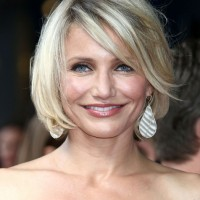 Best Short Bob Hairstyle for Women Over 40 - Cameron Diaz Hairstyles