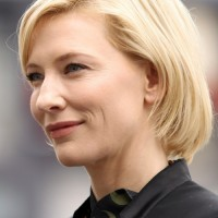 Short Blonde Bob Hairstyle for Heart Face Shape - Cate Blanchett Haircut