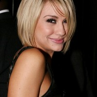 Cute Short Blonde Bob Haircut with Bangs - Popular Bob Hairstyles 2014
