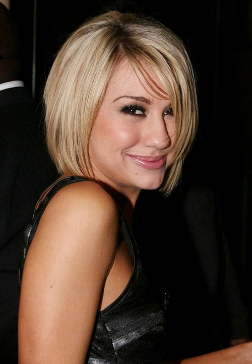 cute short blonde bob haircut with bangs popular bob