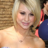 Cute Short Sleek Bob Hairstyle for Heart Face Shapes - Chelsea Kane Bob Haircut