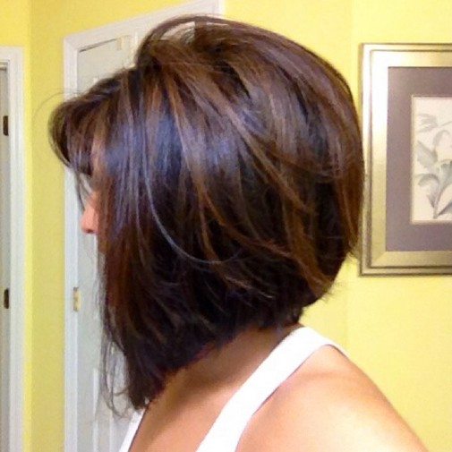 Concave Bob Hairstyle with Subtle Highlights: Short Hairstyles 2015