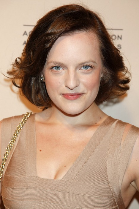 Stupendous Bob Hairstyles For Oval Face Shapes Elisabeth Moss Medium Wavy Short Hairstyles For Black Women Fulllsitofus