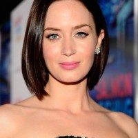 Short Dark Sleek Bob Hairstyle for Women - Emily Blunt Hairstyles