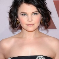 Textured Short Black Curly Bob Haircut - Ginnifer Goodwin Hairstyles